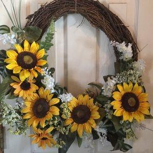 "Sunflower Wreath 21""x21""!"